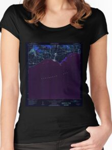 USGS TOPO Map Puerto Rico PR Guayama 362429 1952 30000 Inverted Women's Fitted Scoop T-Shirt