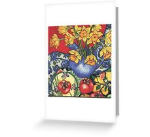 Daffodils and Tamarillos Greeting Card