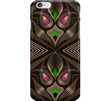 Seamless art deco modern pattern graphic ornament. Abstract stylish background, repeating texture with stylized elements iPhone Case/Skin