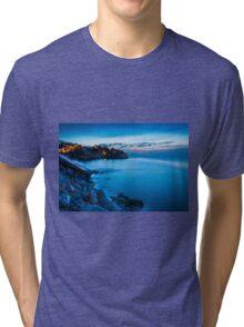 Cala d'Enmig during blue hour Tri-blend T-Shirt
