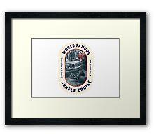 World Famous Jungle Cruise travel sticker Framed Print