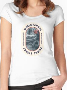 World Famous Jungle Cruise travel sticker Women's Fitted Scoop T-Shirt