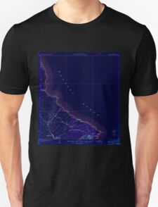 USGS TOPO Map Hawaii HI Makuu 349884 1924 62500 Inverted T-Shirt
