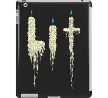 Lit: Drunken Candles (cream) iPad Case/Skin