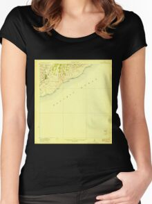 USGS TOPO Map Hawaii HI Pahala 349897 1923 62500 Women's Fitted Scoop T-Shirt
