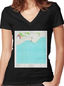 USGS TOPO Map Puerto Rico PR Guayama 362115 1960 20000 Women's Fitted V-Neck T-Shirt