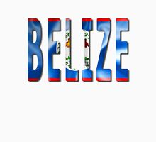 Belize Word With Flag Texture Classic T-Shirt