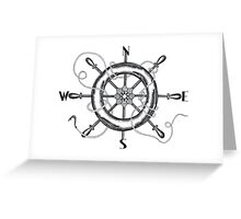 The Helm's Compass Greeting Card