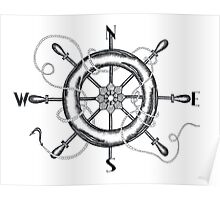 The Helm's Compass Poster