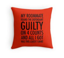 New Girl - Guilty shirt Throw Pillow