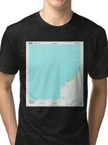 USGS TOPO Map Hawaii HI Makalawena 349549 1996 24000 Tri-blend T-Shirt