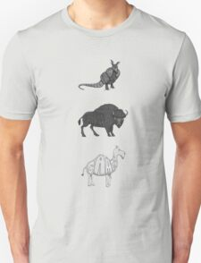 ABC in mammals - monochrome version T-Shirt