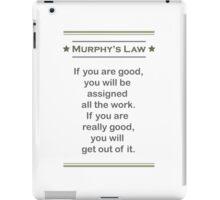 Murphy's Law - Ultimate Office Humor iPad Case/Skin