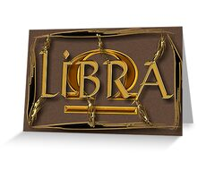 Libra, zodiac sign Greeting Card