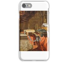 Musical Instruments and Sculpture in a Classical Interior Unidentified artist, Italian (Italian), Formerly attributed to Bartolomeo Bettera iPhone Case/Skin