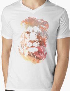 Desert lion Mens V-Neck T-Shirt