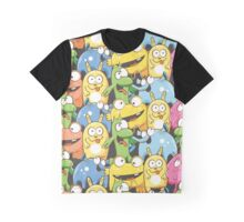Pattern with monsters. Graphic T-Shirt