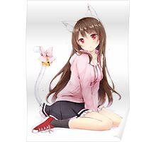 Anime Cat Girl Poster
