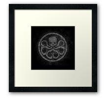 marvel hydra shield grunge Framed Print