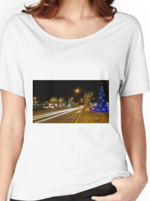 Main Street Mordialloc at night Women's Relaxed Fit T-Shirt