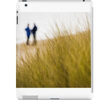Dune grass with people on beach iPad Case/Skin