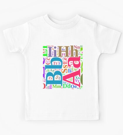 Colorful alphabet Kids Tee