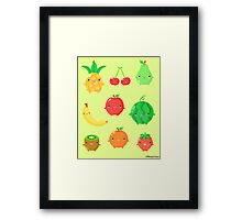 Cute Fruit Friends Framed Print