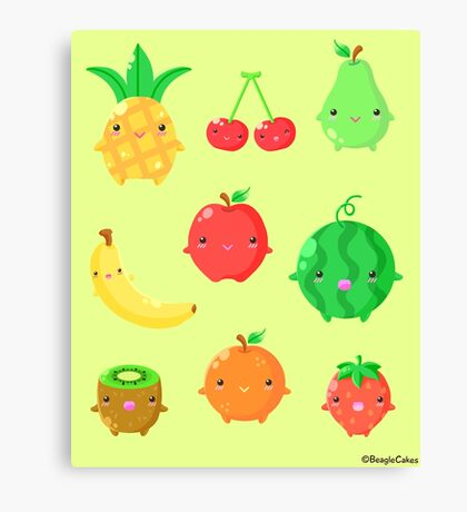 Cute Fruit Friends Canvas Print