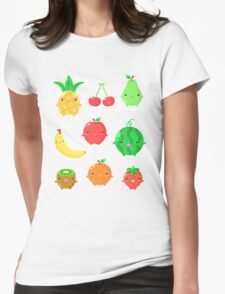 Cute Fruit Friends Womens Fitted T-Shirt