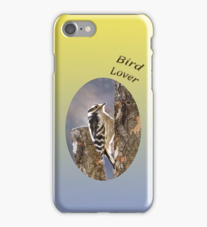 Downy Woodpecker - Bird Lover iPhone Case/Skin