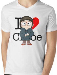 I Love Chloe Mens V-Neck T-Shirt