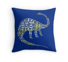 Dino alphabet Throw Pillow