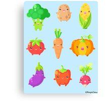 Cute Vegetable Friends Canvas Print