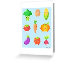 Cute Vegetable Friends Greeting Card
