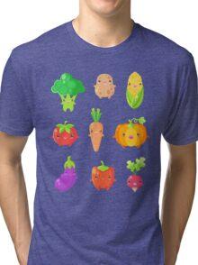 Cute Vegetable Friends Tri-blend T-Shirt