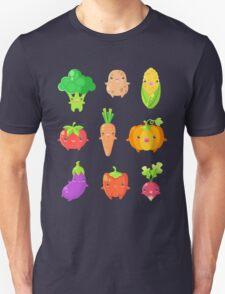 Cute Vegetable Friends Unisex T-Shirt