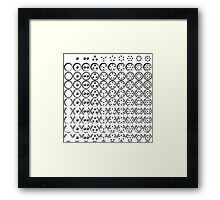 Centesimal Number Chart Sm-Lg Framed Print