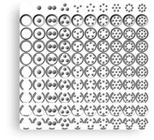 Centesimal Number Chart Sm-Lg Canvas Print