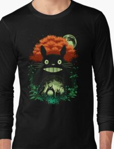 Totoro Dark Night Long Sleeve T-Shirt