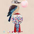 Bird gumball machine Kookaburra by Ruta Dumalakaite