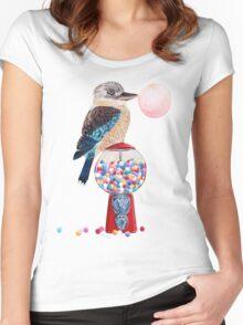 Bird gumball machine Kookaburra Women's Fitted Scoop T-Shirt
