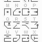 Hollowed Alphabet by Kabi Jedhagen