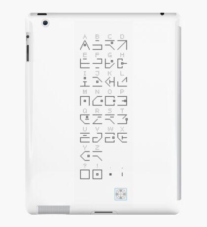 Hollowed Alphabet iPad Case/Skin