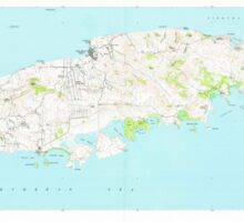 USGS TOPO Map Puerto Rico PR Island Of  Vieques 362452 1951 30000 Sticker