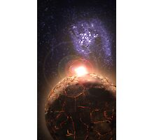 Planet falls inline with Bright star and Seperate Galaxy Photographic Print