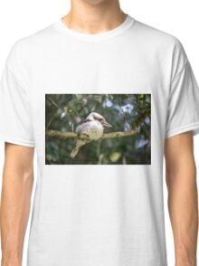 Kookaburra on a branch Classic T-Shirt