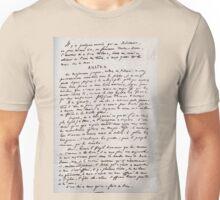 Ananke - Notre-Dame de Paris manuscript Unisex T-Shirt