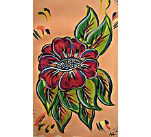 Festival Flowers Red Multi Photographic Print