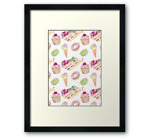 Sweets tasty print Framed Print