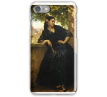 Pierre François Eugène Giraud - The Spanish Beauty with a Fan iPhone Case/Skin